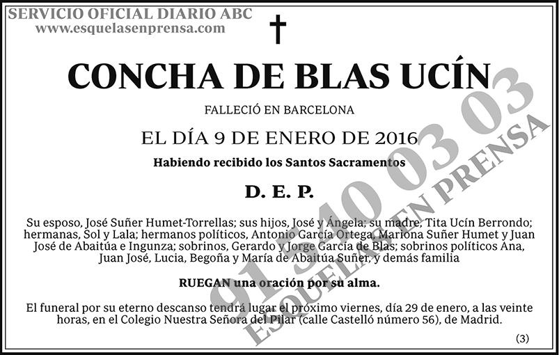 Concha de Blas Ucín